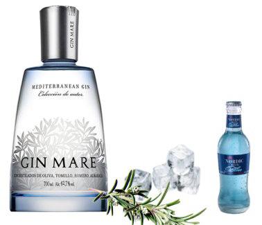 Gin Tonic de Gin Mare con Nordic Mist Blue