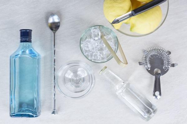 Fotos detalladas de la preparación de un Gin Tonic - paso 1