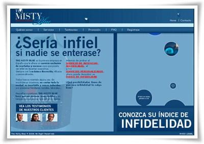 Web presentación de The Misty Blue